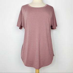 Lucy dusty pink mauve soft tee shirt M